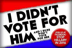 I didn't vote for him.....