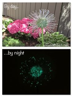 glow in the dark garden dandelion