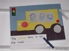classroom idea, buses, animals, wheel, schools, first day, kindi craft, crafts, back to school