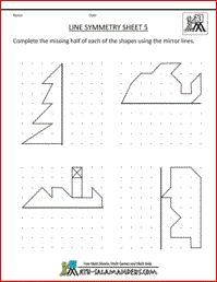 Line Symmetry Worksheets, free printable geometry worksheets 3rd grade