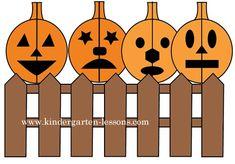 Halloween Matching Pumpkins- symmetry lesson