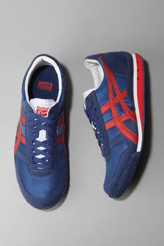$75.00 Onitsuka Tiger Ultimate 81 Sneaker in Navy #sneakers #tigers #shoes #mens