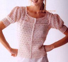crochet fashion, blusa con, al crochet, jacket crochet, de crochet