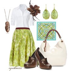 """""""Apple Green"""" by cynthia335 on Polyvore"""
