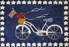 Memorial Day.   Rug made by Polly Minick.