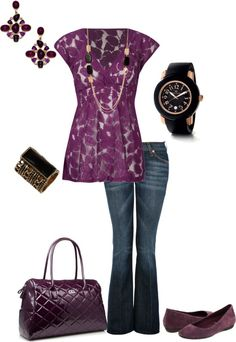 """""""Purple and black"""" by kaybraden on Polyvore @ Fashion and Style style, cloth, purple, dream closet, outfit, kaybraden, shoe, polyvore fashion, black"""