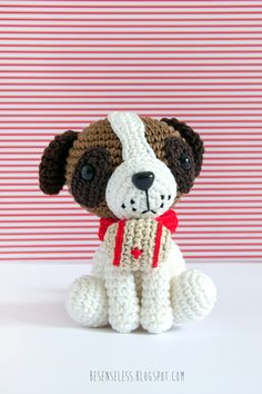 Saint Bernard Dog - Amigurumi - Amigurumi winter wonderland book