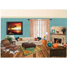Teal And Orange Rooms On Pinterest Teal Living Rooms Retro Living Rooms An