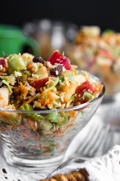 fall detox salad with carrots, apples, sunflower seeds, raisins, and thyme....