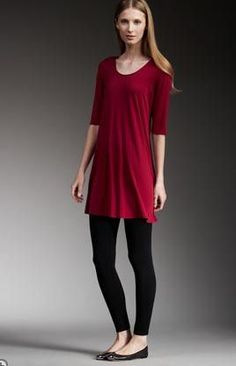 tunic tops to wear with leggings | How To Wear Leggings... If You're Over 40 | BlogHer
