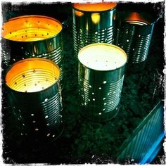 Tin can lanterns from The Crafty Crow