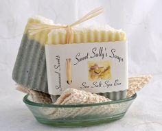Sea Salt Spa Bar Handmade Soap Vegan Soap by SweetSallysSoaps,