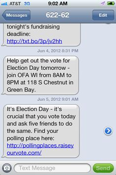 OFA Text on WI Recall Election Day