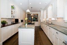 Long and narrow kitchen