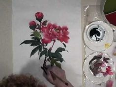 Peony Demo Part 3 of 3 Stems & Veins - YouTube