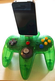 Nintendo 64  Green iPhone and iPod Dock 4S by GeekUnique on Etsy, $39.99