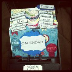 Rolodex  Monthly Birthday Calendar