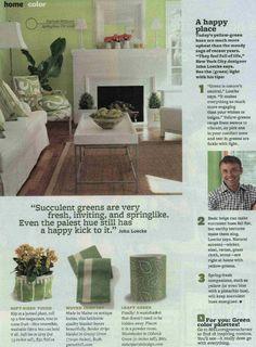 Garnet Hill Border Stripe Blanket in the April issue of @Better Homes and Gardens