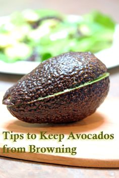 How to Keep an Avocado from Browning--   Kitchen Tip