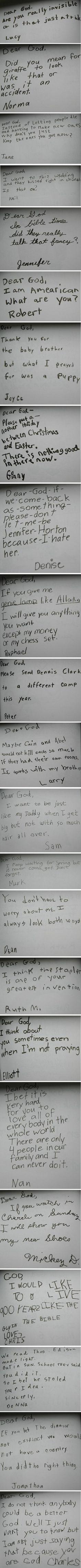 'Dear God, So who made the dinosaurs….?' | The Ketchup War