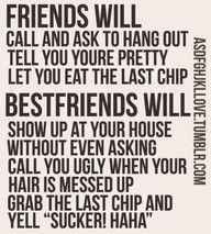 Friends vs Bestfriends