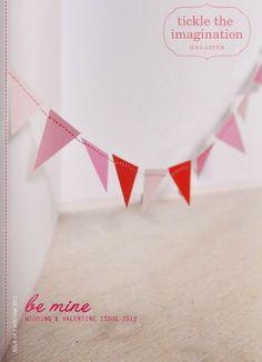 Tickle The Imagination magazine january/2012 #craft #design #DIY #handmade #quarterly #free