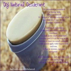 DIY NATURAL DEODERANT