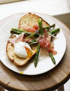 Asparagus, egg, ham from Hugh Fearnley-Whittingstall's Three Good Things