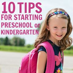 Daily Mom » 10 Tips for Starting Preschool or Kindergarten starting preschool, start preschool, back to school