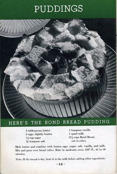 Bond Bread Pudding