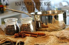 How To: Make Your Home Smell Like Fall