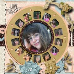 Pictures of my daughter.      Kit used: Cathy K. Designs' A Mother's Love.      Word Art by World Art World      Template: LissyKay Designs' Keep It Reel available at http://store.gingerscraps.net/Keep-it-Reel-by-LissyKay-Designs.html