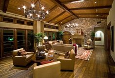 A deliberate conversation area, love it.  This home looks so warm and cozy.