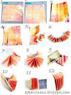 Step by step tutorial showing you how to create this album :-)  papervinenz.blogs...