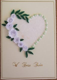 quilled roses + pearl, must try to do this one
