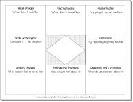 Poetry Brainstorming Graphic Organizer freebie from Laura Candler's Teaching Resources