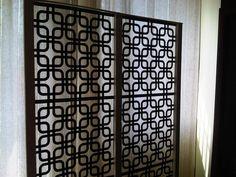 DIY room divider - love the pattern