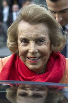 Heiress, Liliane Bettencourt, of L'Oreal cosmetics fortune jumps to 9th richest in 2013 from 15th richest last year, thanks to a more than 30% rise in the price of L'Oreal stock. Her net worth is 30 billion.