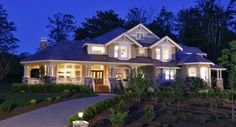 This gorgeous 2-story craftsman #house plan has plenty of flexible living spaces and storage for a growing family. Check out 25 photographs of the Cedar Crest House Plan 3226 including floor plans. Prices start at $1,300 for this 4,100 square foot home.