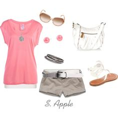 """Pink and White"" by sapple324 on Polyvore"