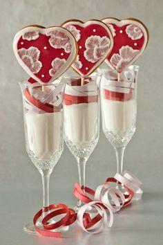 pretty valentine cookie pops