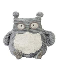 Gray Plush Owl Pillow