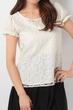Lodispotto フラワーエアリーレースブラウス / floral print lace shirt on ShopStyle