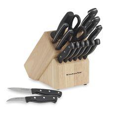 KitchenAid® Stamped Triple Riveted 16-Piece Knife Block Set