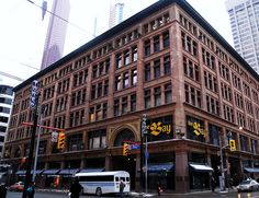 The Robert Simpson Company, or Simpsons (Simpson's until 1972), was a Canadian department store chain, founded by Robert Simpson. The chain was eventually bought by the Hudson's Bay Company. The building in picture is the flagship store built in 1894 in Toronto, Ontario.