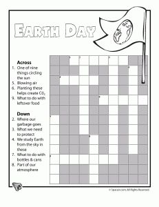 Earth Day Printable Crossword Puzzle -  Pinned by @PediaStaff – Please Visit http://ht.ly/63sNt for all our pediatric therapy pins
