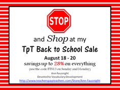 TpT Sale! Don't Miss Out