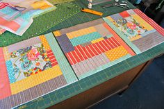 Maureen Cracknell has demystified quilting as you go) and made me not scared and really really want to try it... genius!