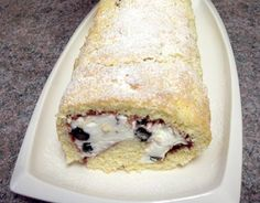 German Cream Roll with Blueberries http://www.quick-german-recipes.com/cream-roll-recipe.html or any other fruit