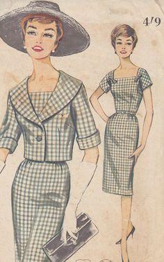 Vintage 1960s Butterick Sheath Dress and Jacket 2145 by SewIndigo, $18.00